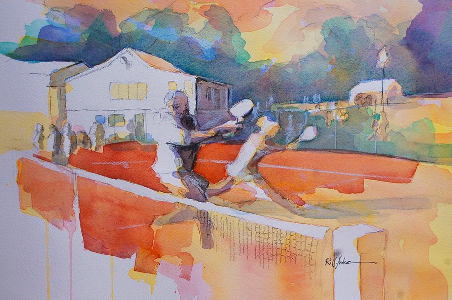 Tennis Court Painting - Tennis Club by Robert Yonke