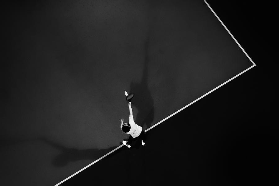 Aerial Photograph - Tennis by Rui Caria