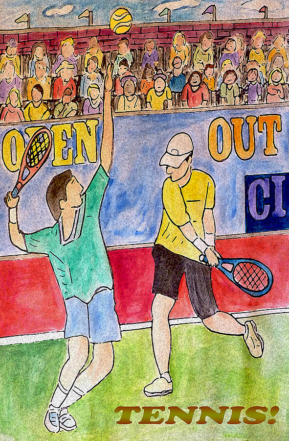 Tennis Painting - Tennis Strokes by Monica Engeler