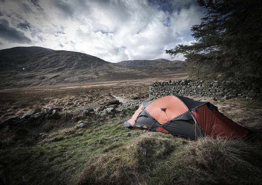 Tent Photograph - Tent in Mournes by Edward Benton