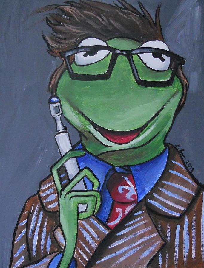 Tenth Doctor Kermit The Frog Painting By Lisa Leeman