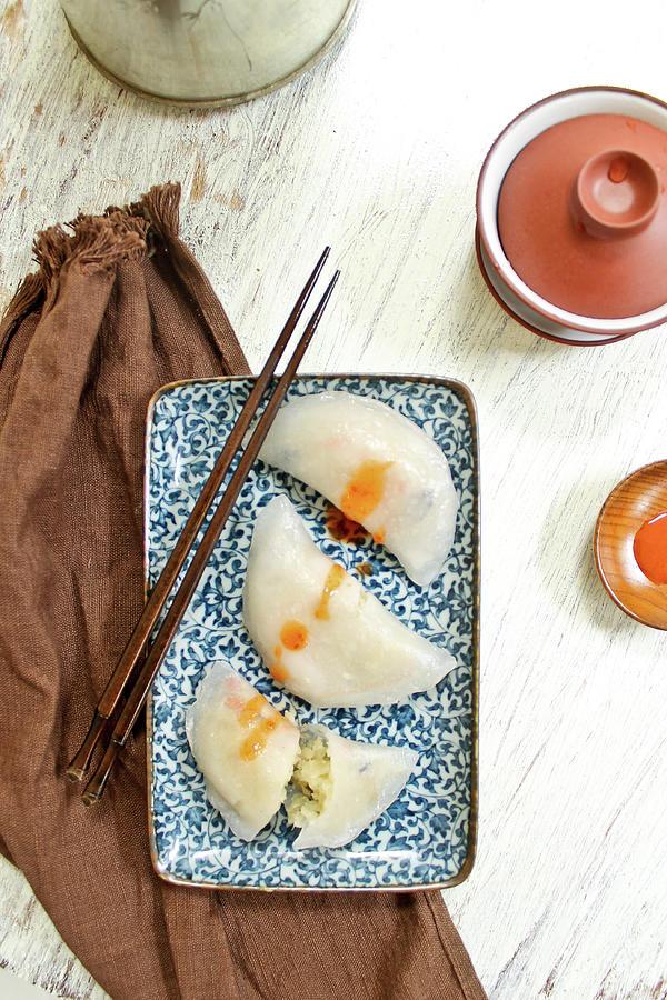 Teochew Chinese Steamed Dumplings Photograph by Jen Voo Photography