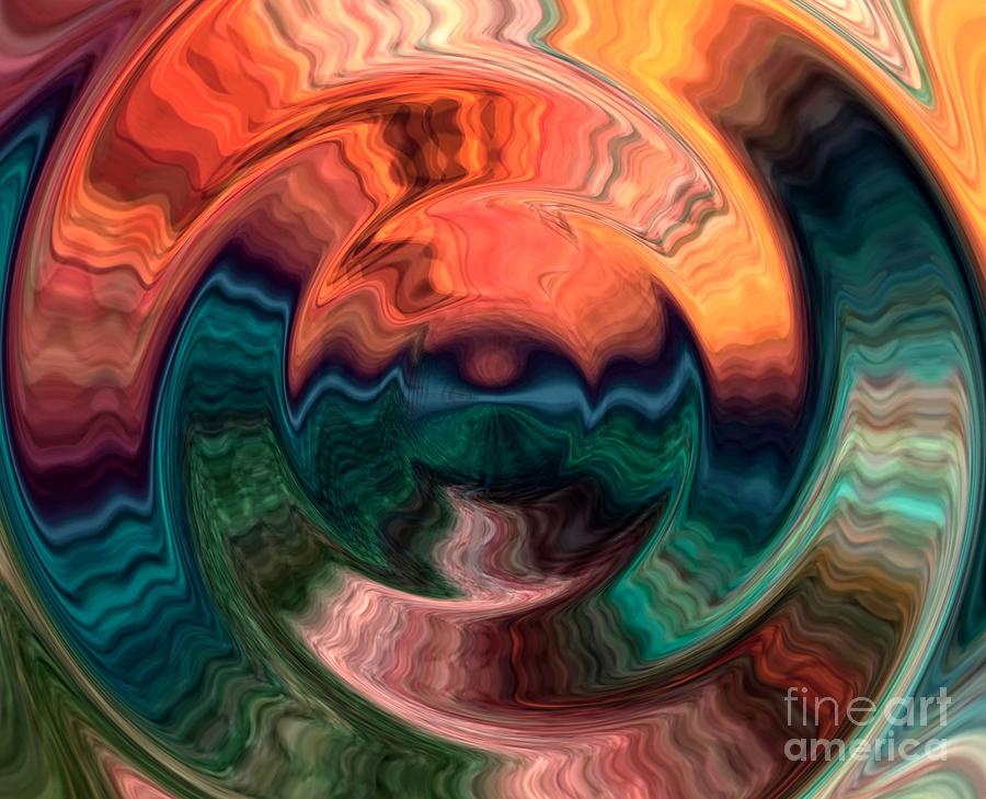 Tequila Digital Art - Tequila Sunrise by Anthony Morris