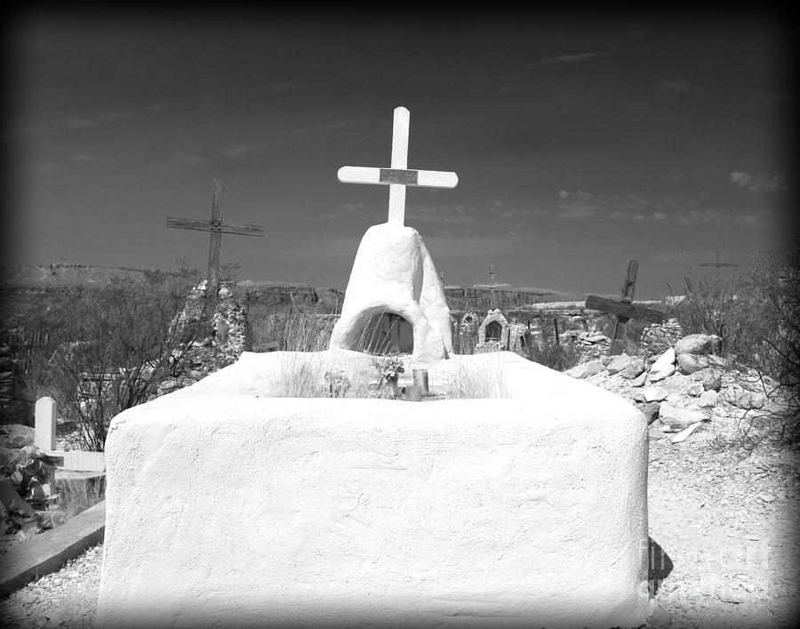 Cemetery Photograph - Terlingua Grave by Sonja Quintero