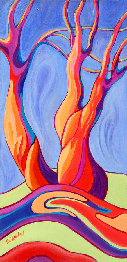 Trees Painting - Terpsichore Tribute by Sandi Whetzel