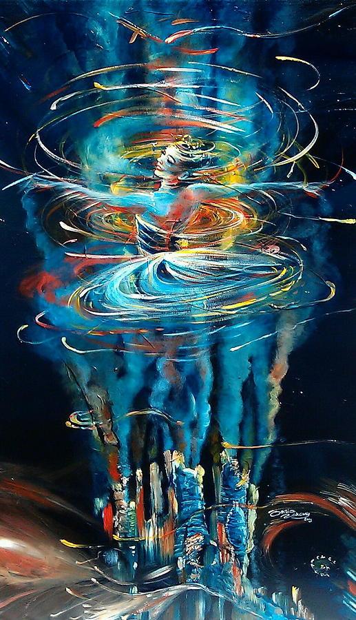 Acrylic On Canvas Painting - Terra Nova by Ottilia Zakany