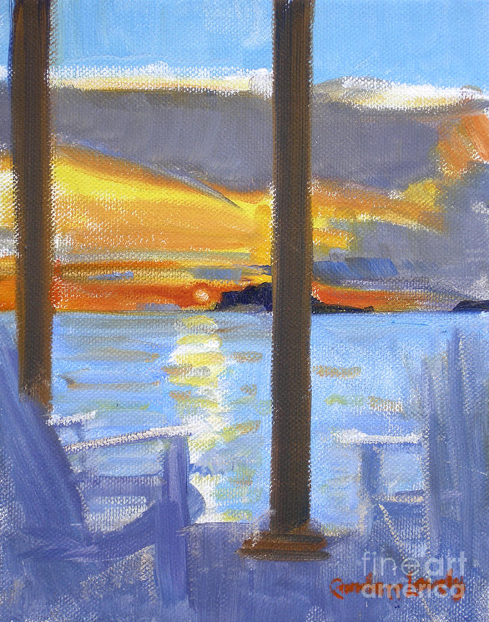 Water Island Painting - Terrace Sunset by Candace Lovely