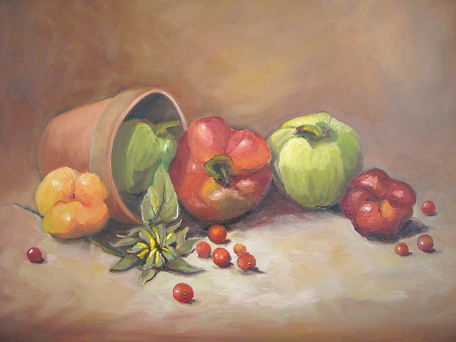 Still Life Painting - Terracotta by Brandi  Hickman
