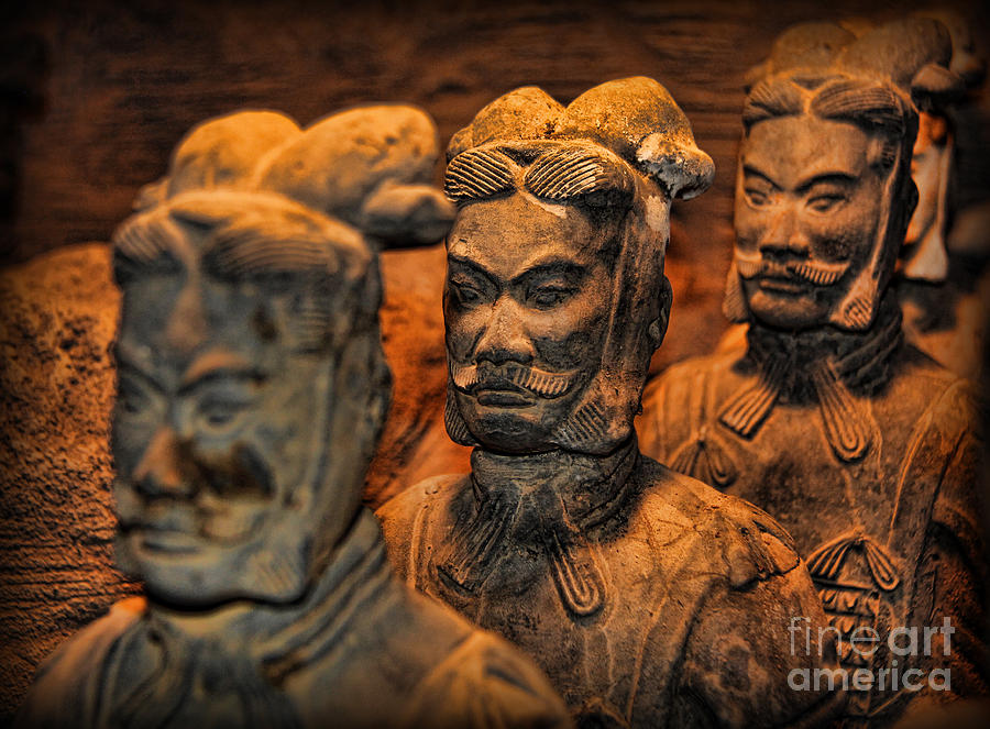 Warriors Photograph - Terracotta Warriors - The Emperors Army by Lee Dos Santos