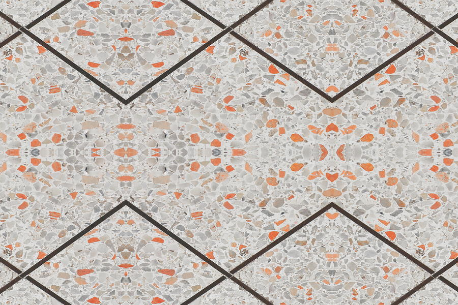 Terrazzo Flooring Old Texture Or Stone Marble Background With Copy Space Add Text