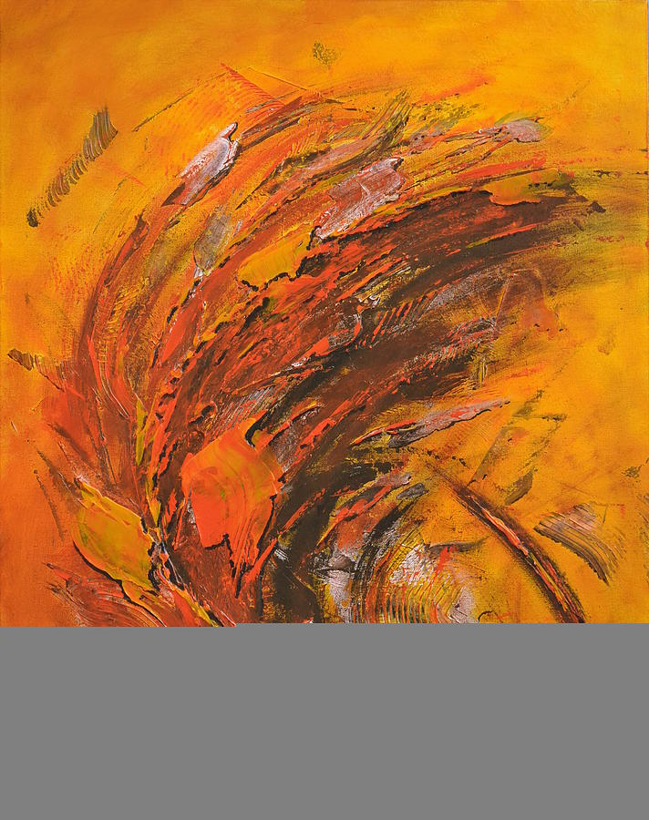 Abstract Painting - Terres Ocres by Thierry Vobmann