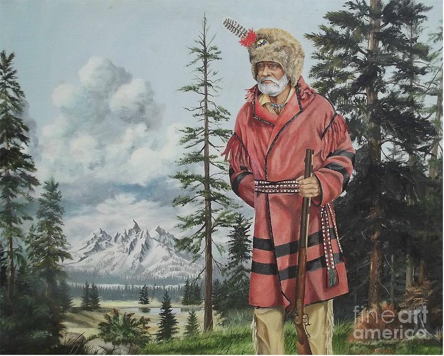 Landscape Painting - Terry The Mountain Man by Wanda Dansereau