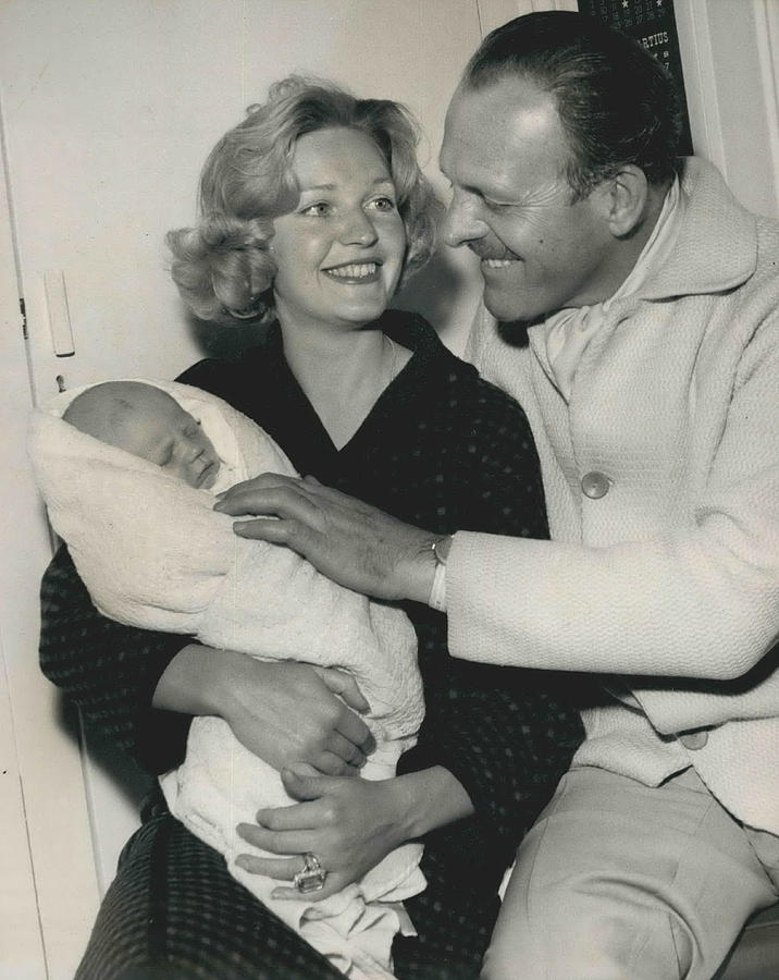 Retro Photograph - Terry Thomas Flies Here To See His Baby by Retro Images Archive