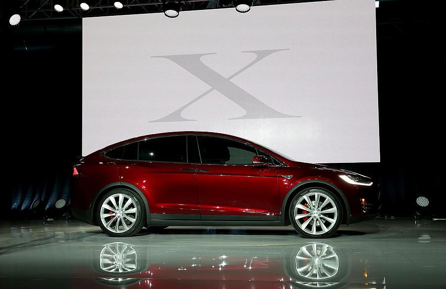 Tesla Debuts Its New Crossover Suv Model, Tesla X Photograph by Justin Sullivan