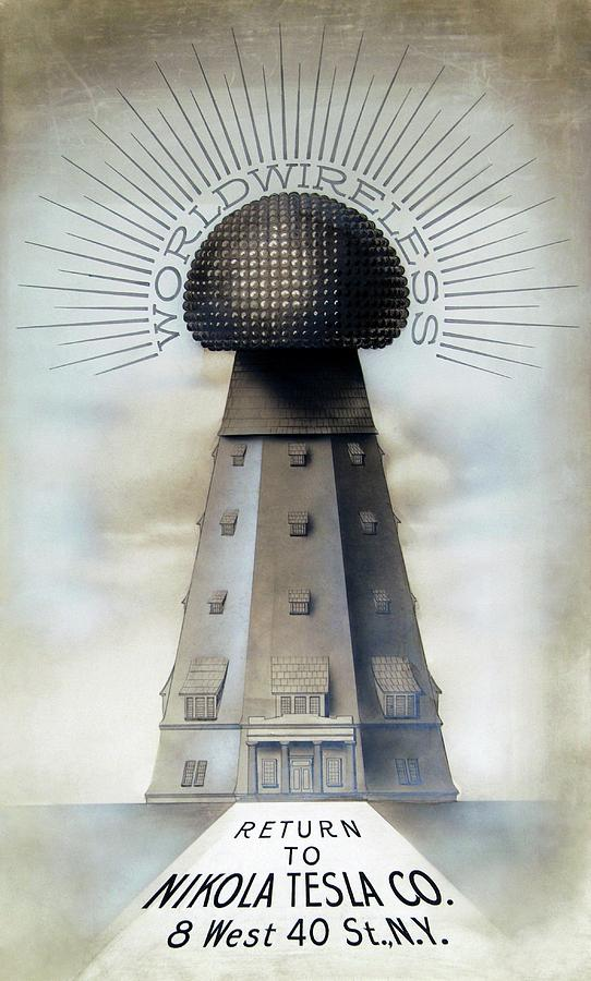 Building Photograph - Teslas Wardenclyffe Tower Laboratory by Nikola Tesla Museum/science Photo Library