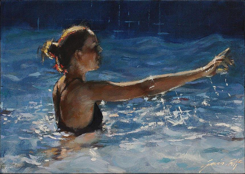 Teen Painting - Tessa I by Gavin Calf