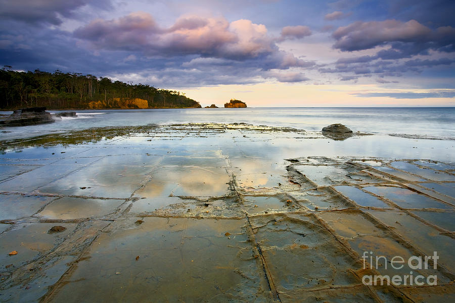 Tesselated Photograph - Tesselated Dusk by Mike  Dawson