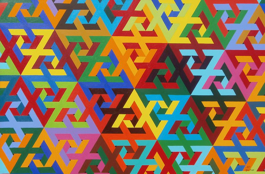Tessellated Z S Painting By Adrien Barlow