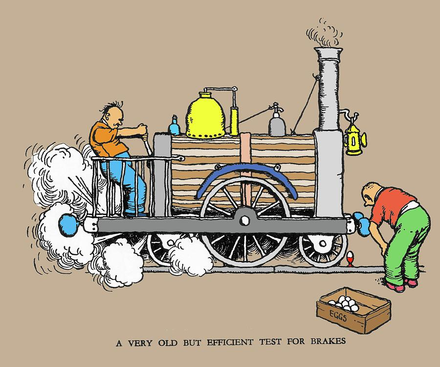 Nobody Photograph - Test For Brakes By W. Heath Robinson by Adam Hart-davis/science Photo Library