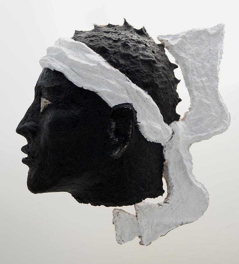 Corsica Relief - Tete De Maure - Papier Mache by Christian V Stanescu
