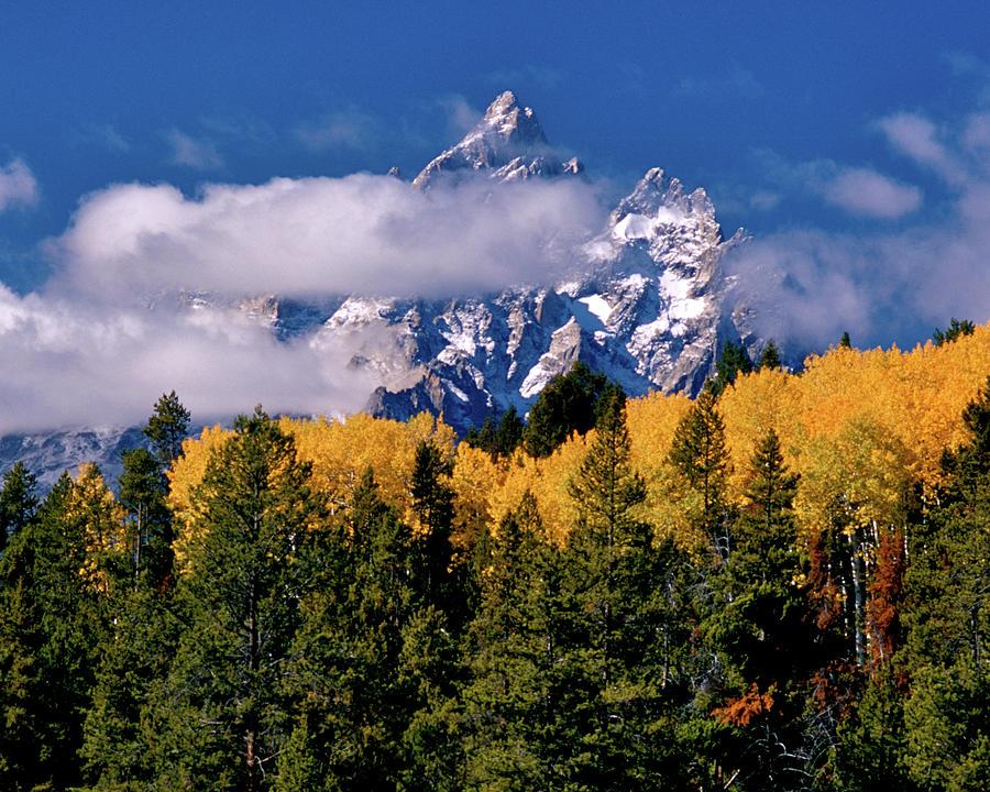 Teton Clouds by Ed  Riche
