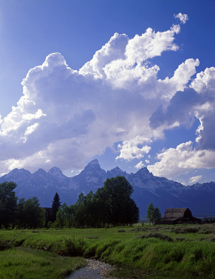 Barn Photograph - Teton Ranch Afternoon by Mike Norton