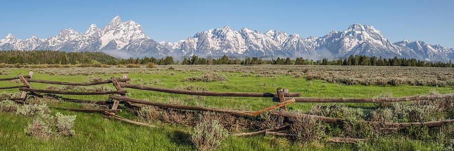 Teton Photograph - Teton Range Panorama by Aaron Spong