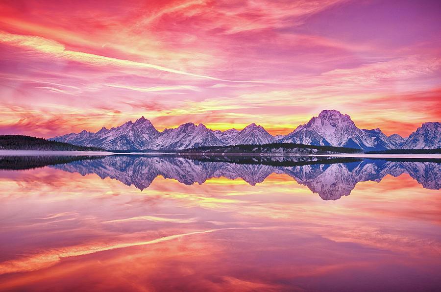 Teton Reflection Photograph by Chen Su