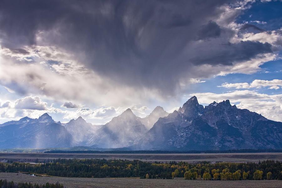 Autumn Photograph - Teton Storm by Mark Kiver