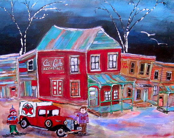 Hawkesbury Painting - Texaco Home Delivery by Michael Litvack