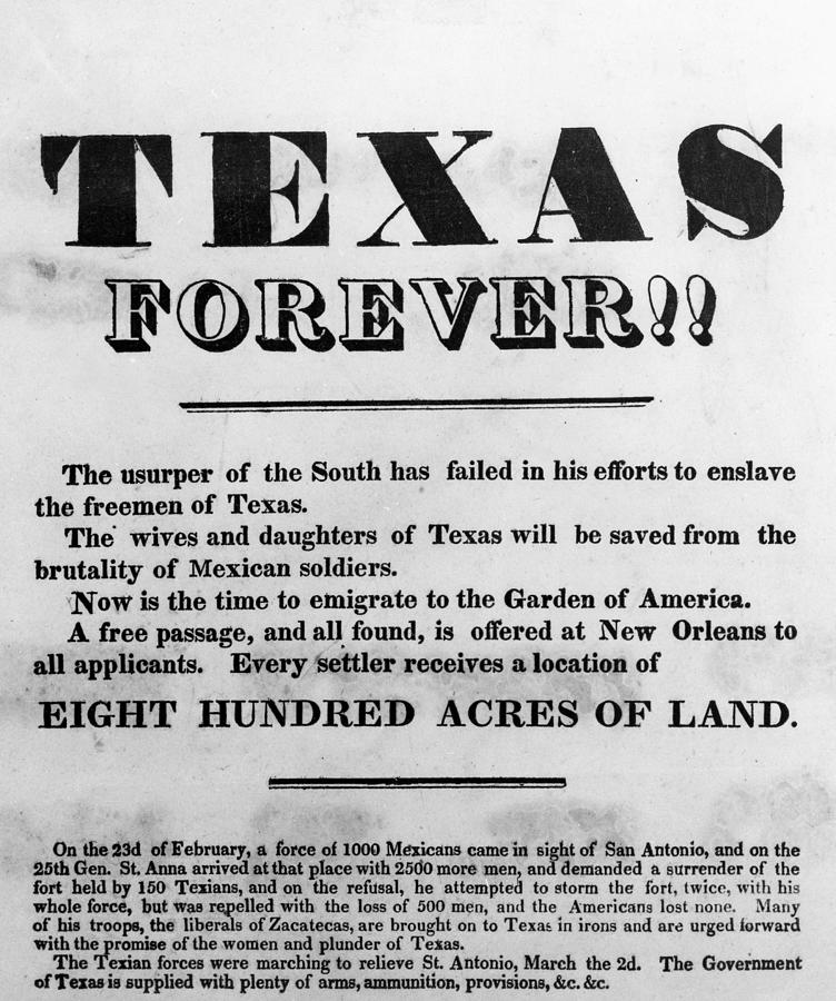 1836 Painting - Texas Broadside, 1836 by Granger