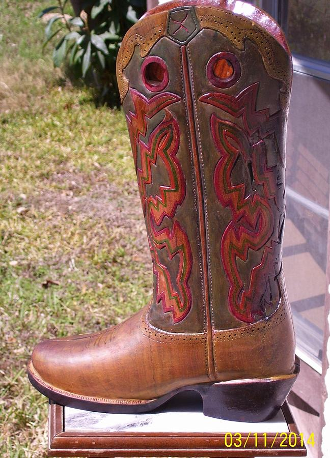 Texas Sculpture - Texas Custom Boot by Michael Pasko