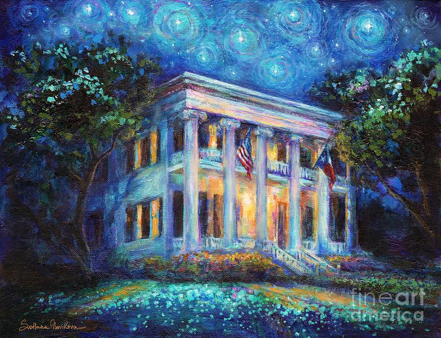 Austin Architecture Painting - Texas Governor Mansion Painting by Svetlana Novikova