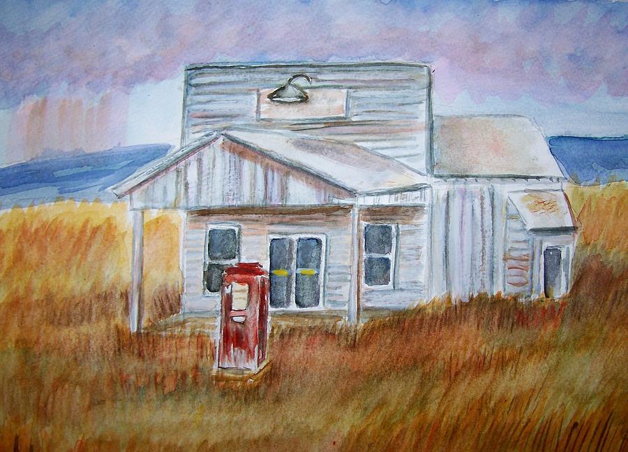 Landscape Painting - Texas Grassland by Belinda Lawson
