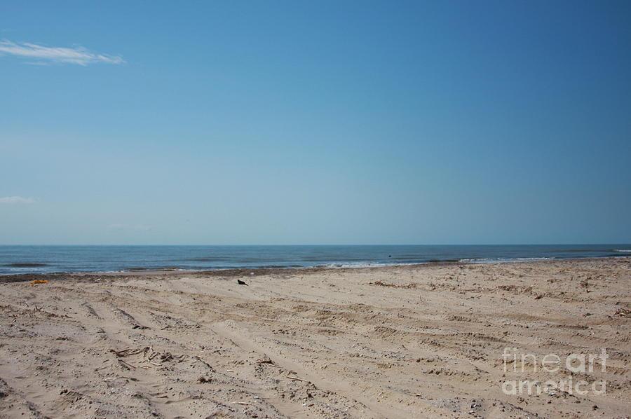 Landscape Gulf Coast Beach Sand Sun Fun Texas Honeymoon  Photograph - Texas Gulf Series by Delaine Miller Sweat