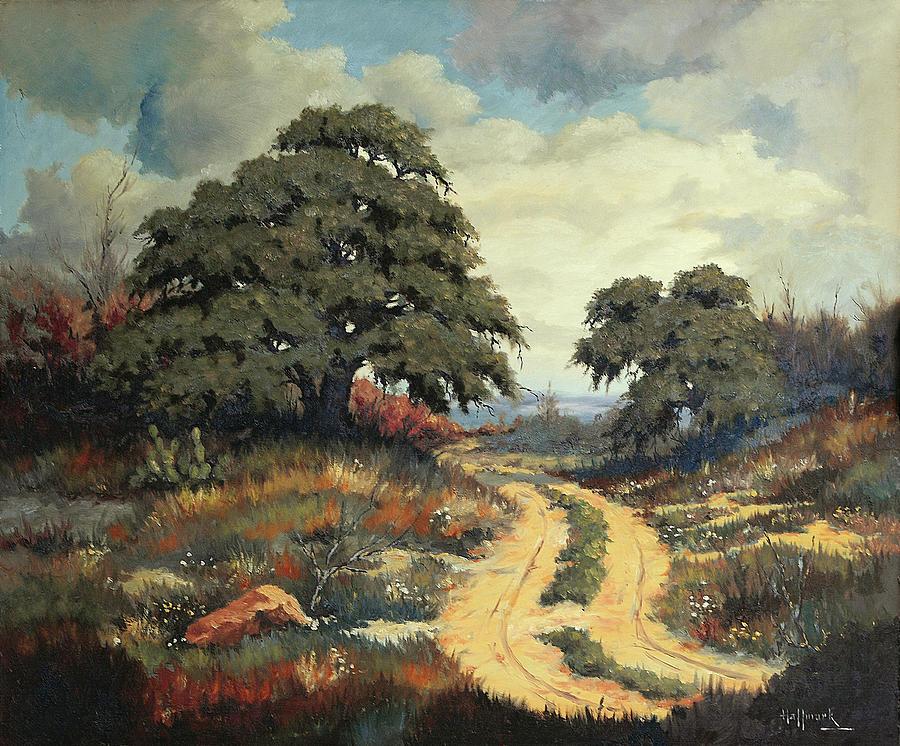 Bob Hallmark Painting - Texas Hill Country by Bob Hallmark