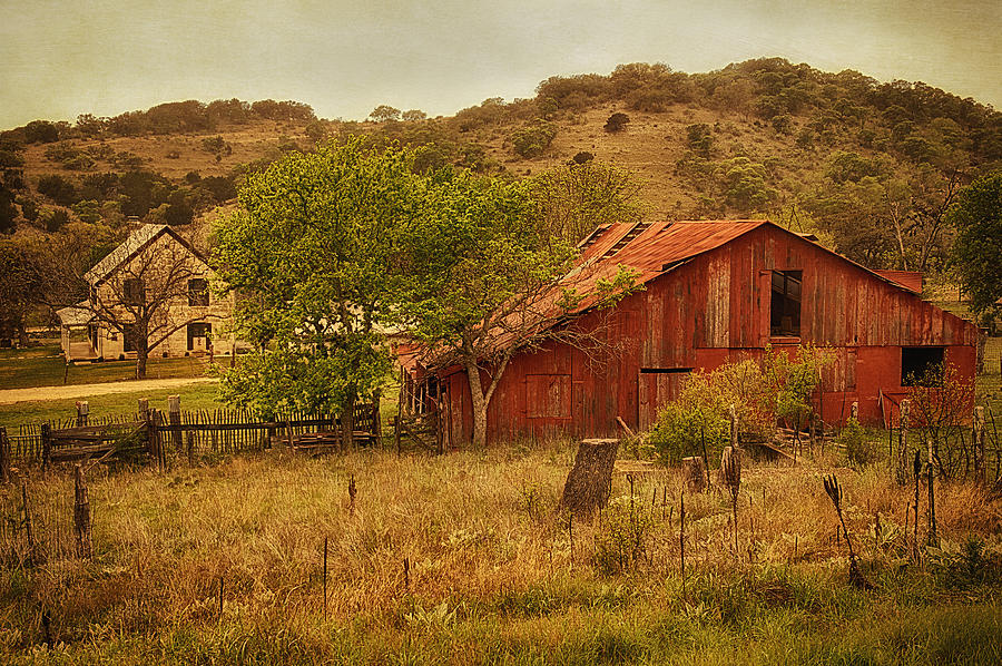 Texas Hill Country Farm Photograph By Priscilla Burgers