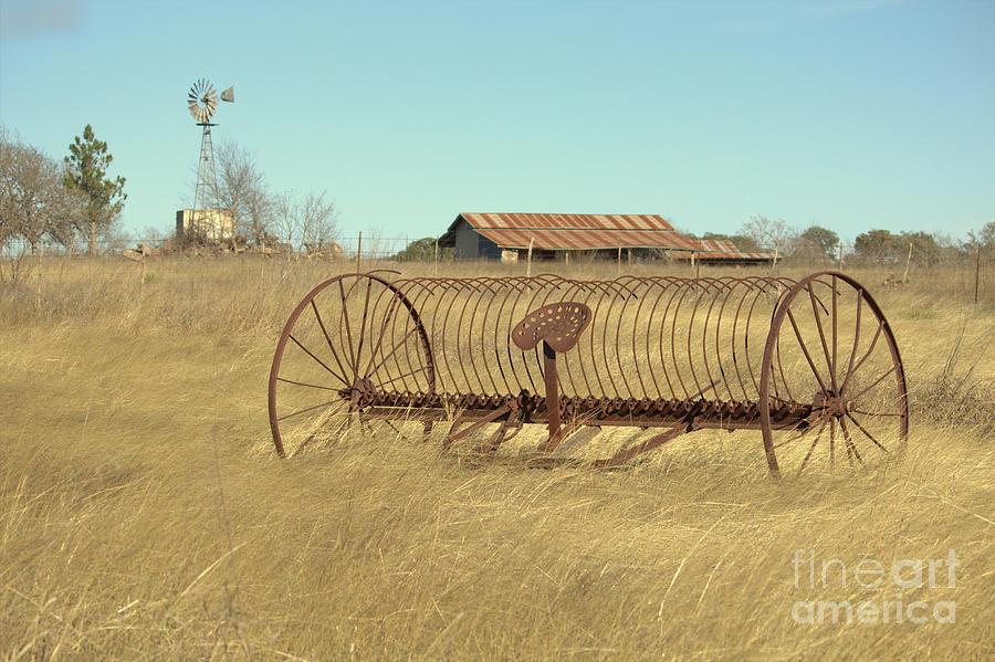 Texas Photograph - Texas Hill Country Farmscape by Joe Jake Pratt