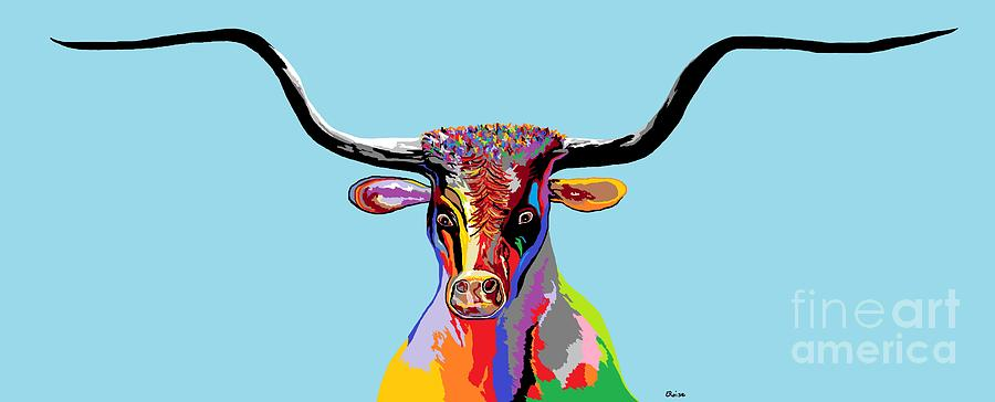 South Painting - Texas Longhorn by Eloise Schneider