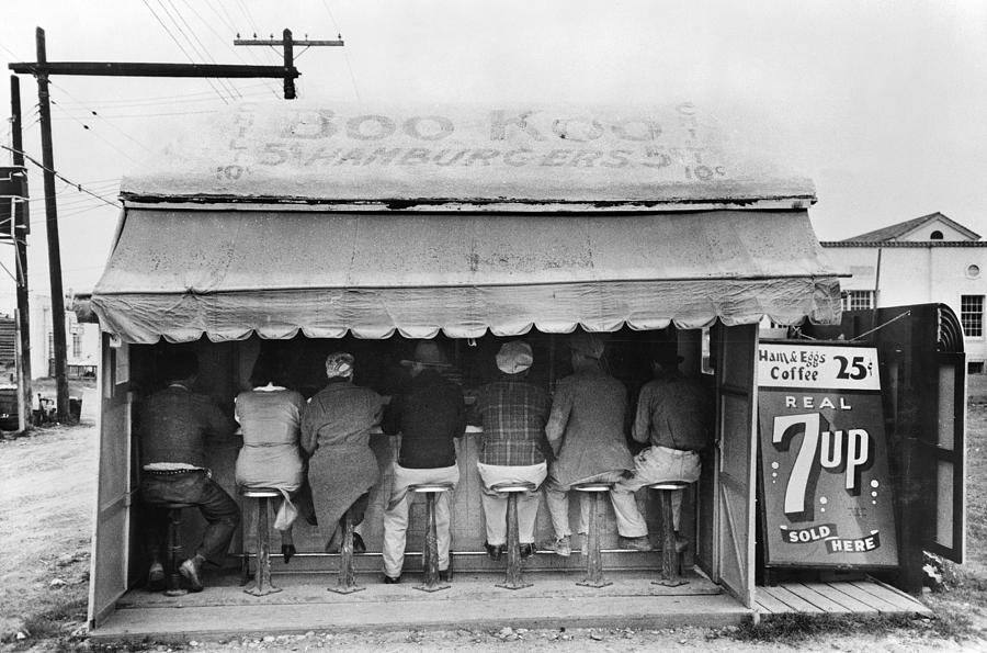 1939 Photograph - Texas Luncheonette, 1939 by Granger