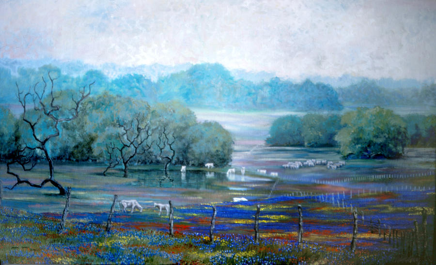 Landscape Painting - Texas Pastoral by Dan Terry