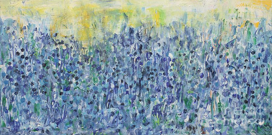 Bluebonnets Painting - Bluebonnets by Bjorn Sjogren