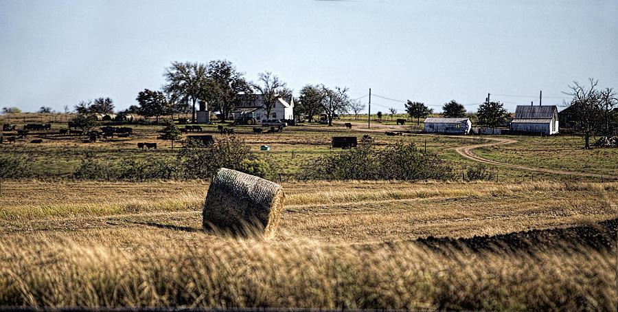 Fall Photograph - Texas Ranch Scene by Linda Phelps