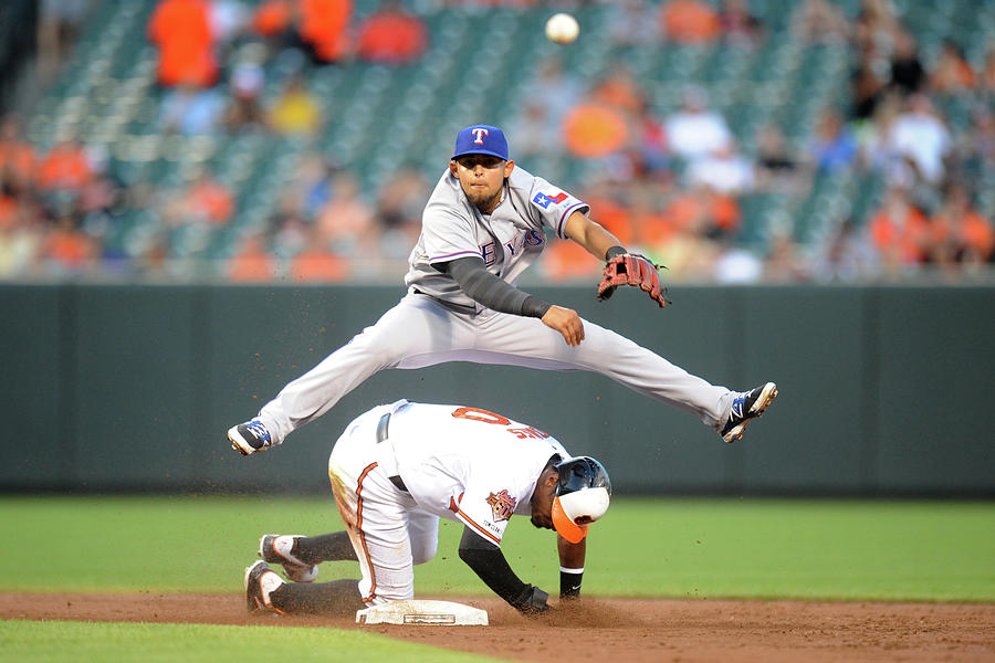 Texas Rangers V Baltimore Orioles Photograph by Mitchell Layton