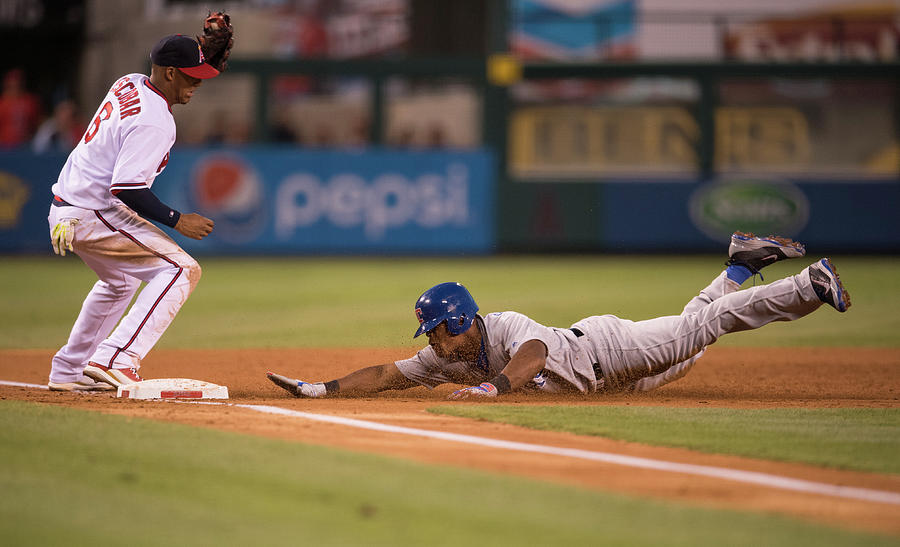Texas Rangers V Los Angeles Angels Of Photograph by Matt Brown