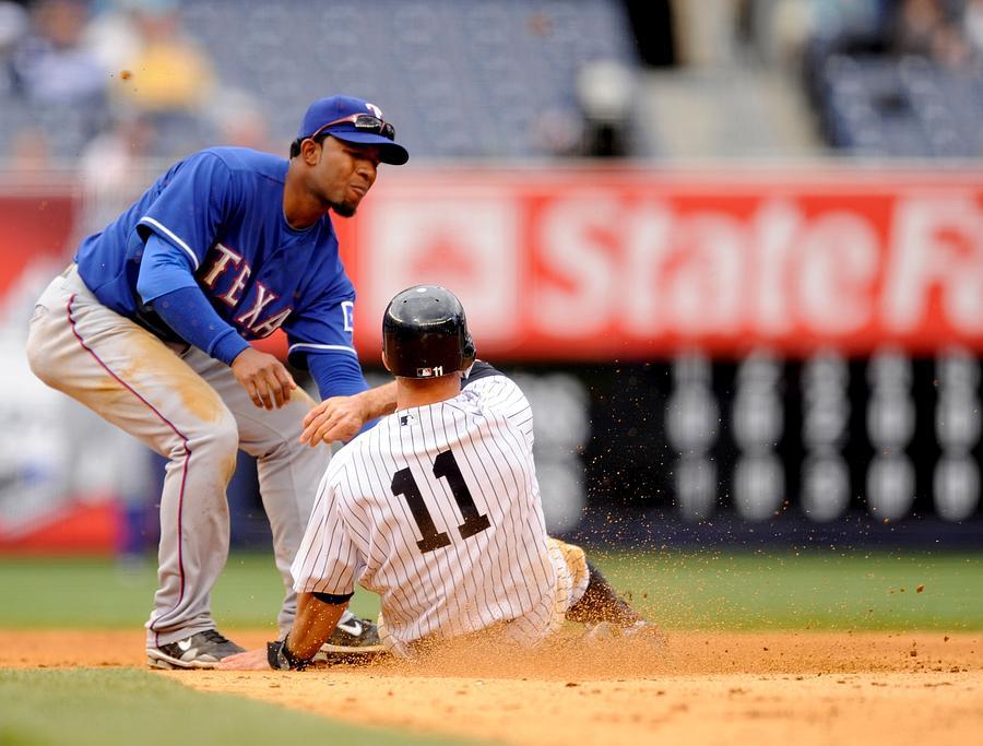 Texas Rangers  V New York Yankees Photograph by Rob Tringali/Sportschrome