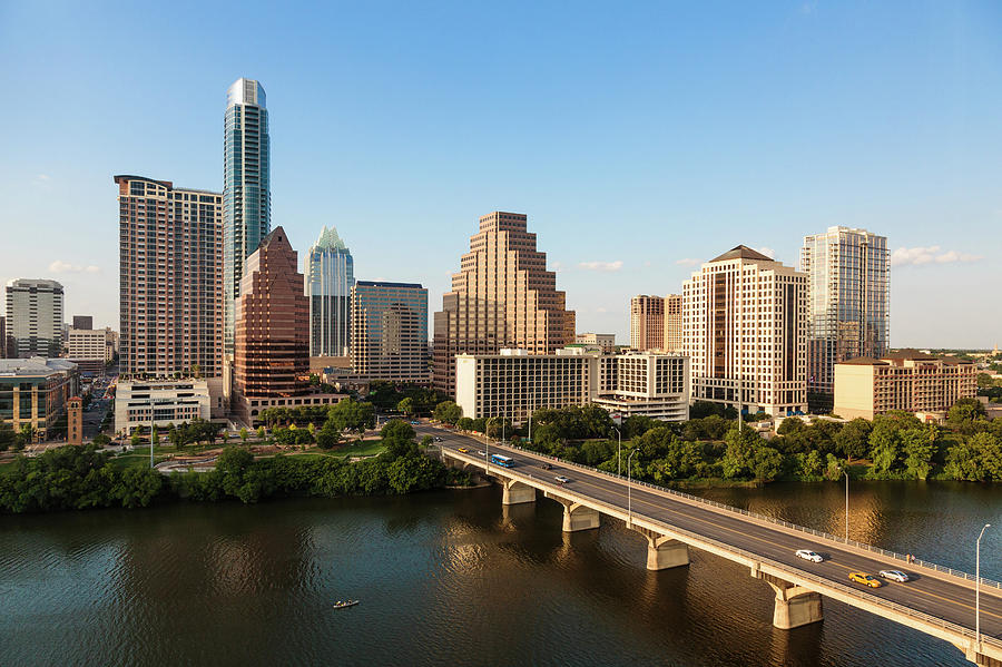 Texas Skyline During Golden Hour Photograph by Peter Tsai Photography - Www.petertsaiphotography.com