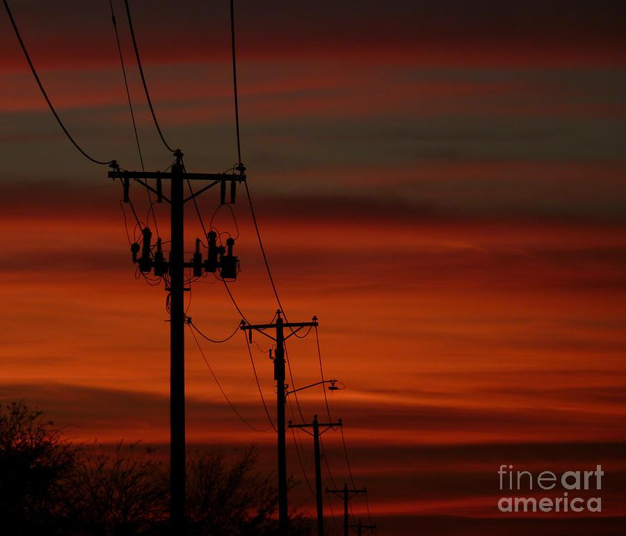 Texas Photograph - Texas Sunset by N Faulkner