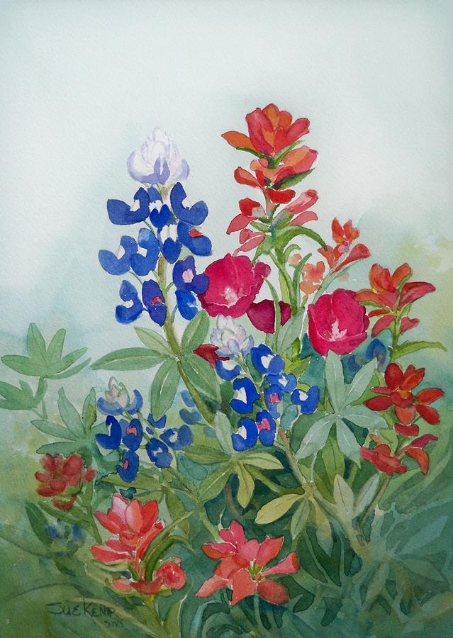 Acrylic Wildflower Paintings