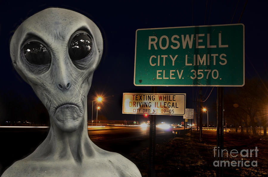 Alien Photograph - Texting Causes Crashes by Bob Christopher